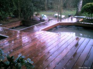 Terrasse en Ipé avec bassin intégré
